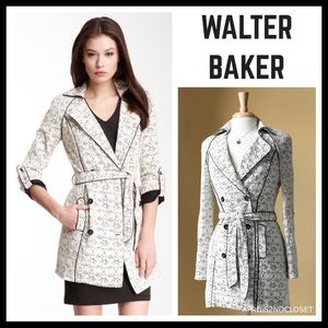 WALTER BAKER DOUBLE BREASTED LACE TRENCH COAT A2C